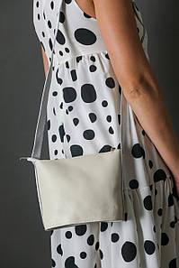 """Сумка жіноча. Шкіряна сумочка """"Елліс"""", гладка шкіра, колір Кремовий"""