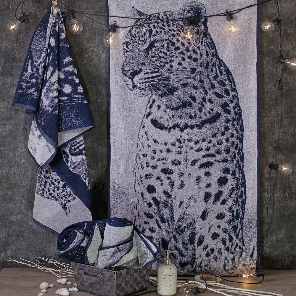 Рушник махровий ТМ Речицький текстиль, Фото Лео 67х150 см