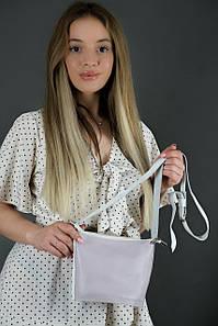 """Сумка жіноча. Шкіряна сумочка """"Елліс"""", Гладка шкіра, колір Бузковий"""