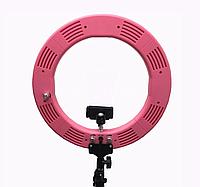 60W! Кільцева LED лампа ForMe (34,5см) рожевого кольору