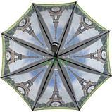 Зонт жіночий складаний напівавтомат легкий красивий з Ейфелевою вежею Max міцний купол 100 см (314-1), фото 2