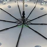 Женский зонтик красивый полуавтомат складной SL 9 спиц антиветер прочный Темно-синий (35015-1), фото 4