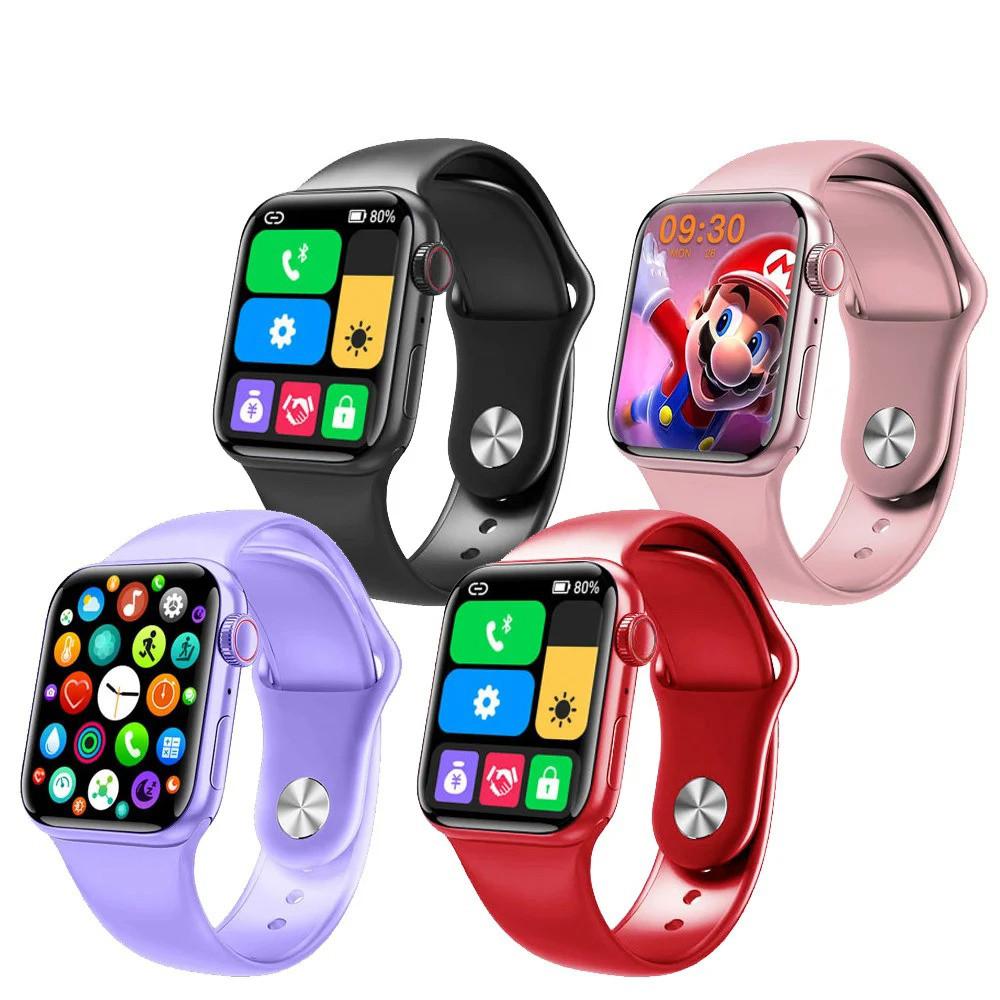 Фитнес браслет трекер Apl Watch Series 6 M26 PLUS Смарт часы с микрофоном Беспроводная зарядка 44mm Aluminium
