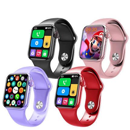 Фитнес браслет трекер Apl Watch Series 6 M26 PLUS Смарт часы с микрофоном Беспроводная зарядка 44mm Aluminium, фото 2