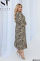 Нарядное женское платье с длинными рукавами и стильным принтом с 50 по 54 размер, фото 2