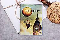Яркая пластиковая обложка на паспорт с Биг-Беном