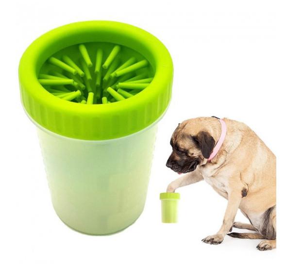 Лапомойка для собак и кошек Soft Gentle Зеленая