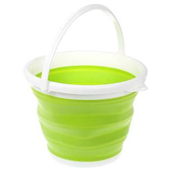 Складное відро Silicon Bucket 5л Зелене