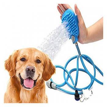 Щетка-душ на ладонь для купания крупных собак Pet Bathing Tool со шлангом