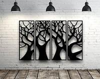 Декоративное панно Деревья, декоративное панно из дерева, объемная картина, настенное панно