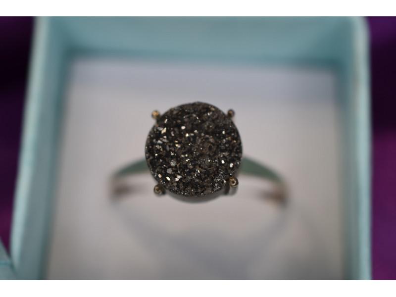 Серебряное кольцо с Марказитом 925 проба  *Круг*