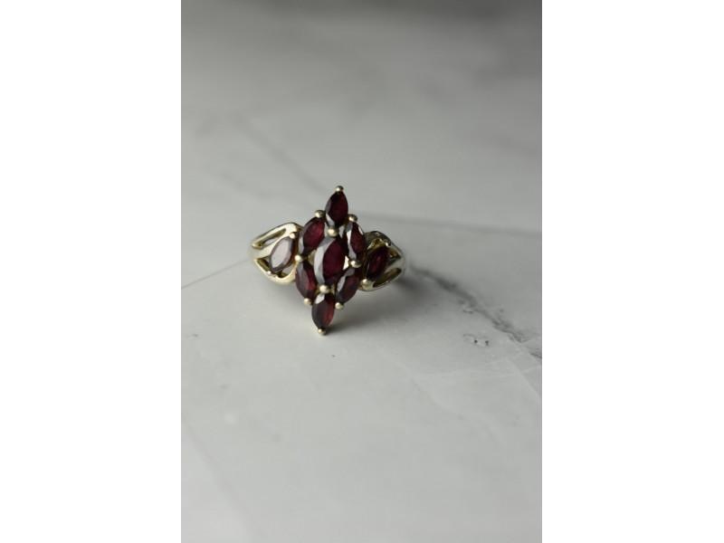 Винтажное Серебряное кольцо 925 пробы с Альмандином