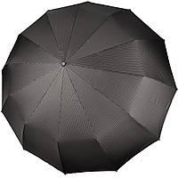 Великий чоловічий зонт 12 СПИЦЬ Антивітер Три Слона (повний автомат) арт. M7121-1, фото 1