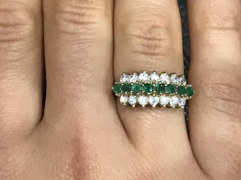 Серебро 925 пробы кольцо с фианитами