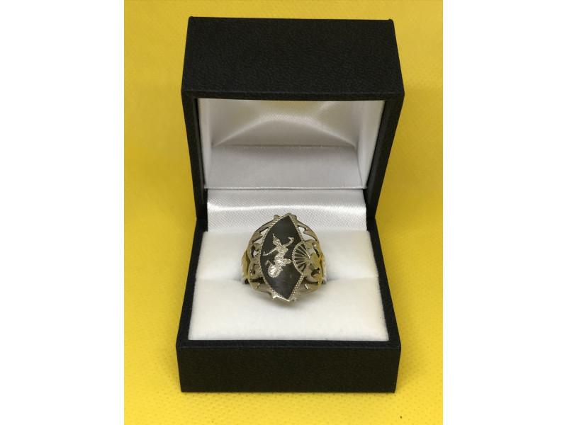 Серебряное кольцо 925 проба сиамское серебро