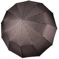 Большой мужской зонт 12 СПИЦ Три Слона в полоску  (полный автомат) арт. M7121-4, фото 1