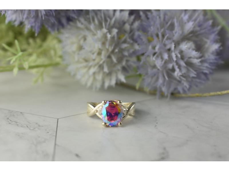 Серебряное кольцо 925 пробы с Фианитами  *Волшебное Сияние*