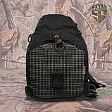 Однолямочний тактичний рюкзак Silver Knight на 8 літрів з системою M.O.L.L.E чорний, фото 5
