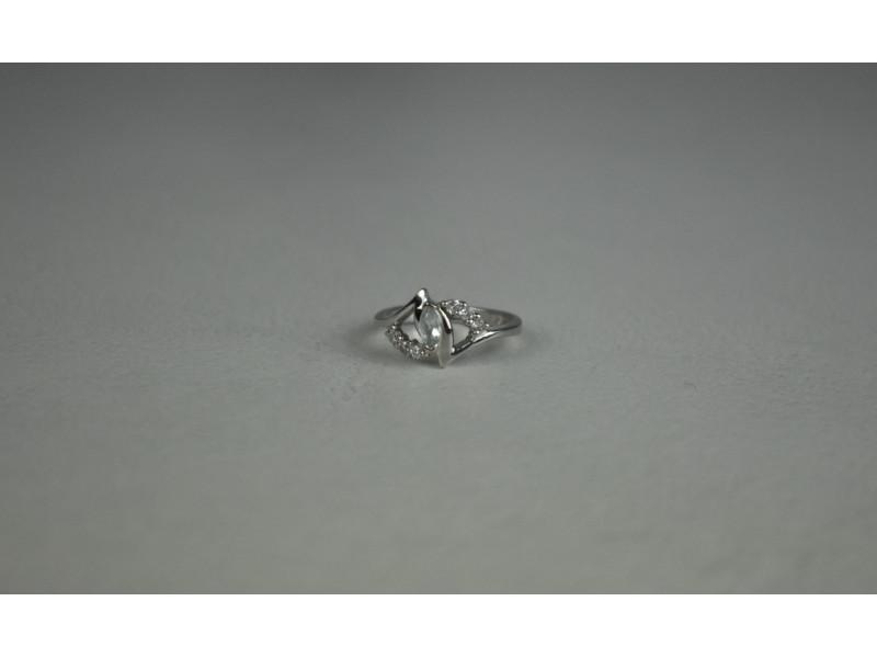 Серебряное кольцо с Бесцветным Турмалином *АХРОИТ*