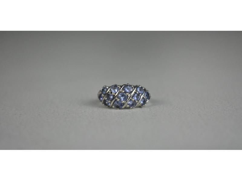 Серебряное кольцо с Танзанитом 925 проба