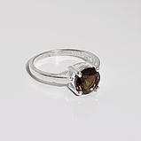 Раухтопаз димчастий кварц срібне кільце, 1787КР, фото 2