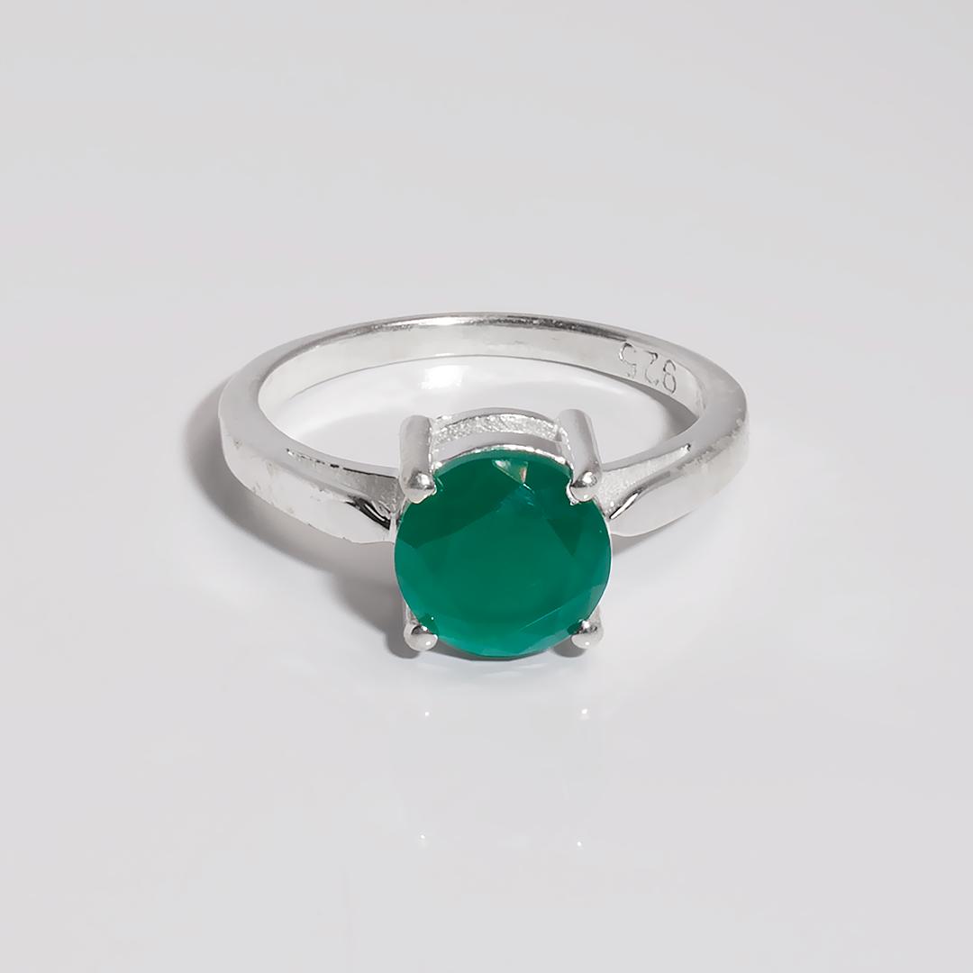 Агат зелений срібне кільце, 1788КА