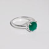 Агат зелений срібне кільце, 1788КА, фото 2
