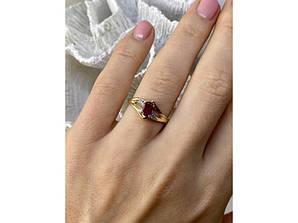 Золотое кольцо с рубином и бриллиантами   Вдохновение