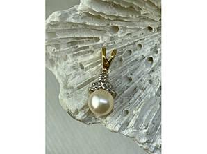 Золотой кулон с жемчугом и бриллиантами
