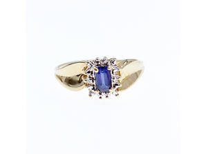 Золотое кольцо с сапфирами и бриллиантами   Сапфировая сказка