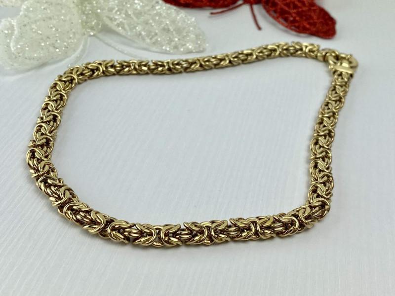 Серебряное ожерелье в позолоте 925 проба Italy