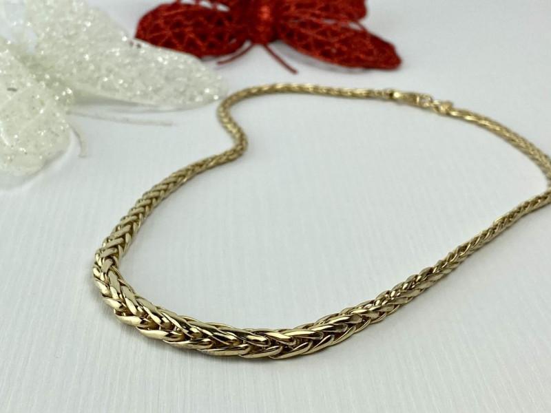 Серебряное ожерелье в позолоте 925 проба Italy  *Грация*