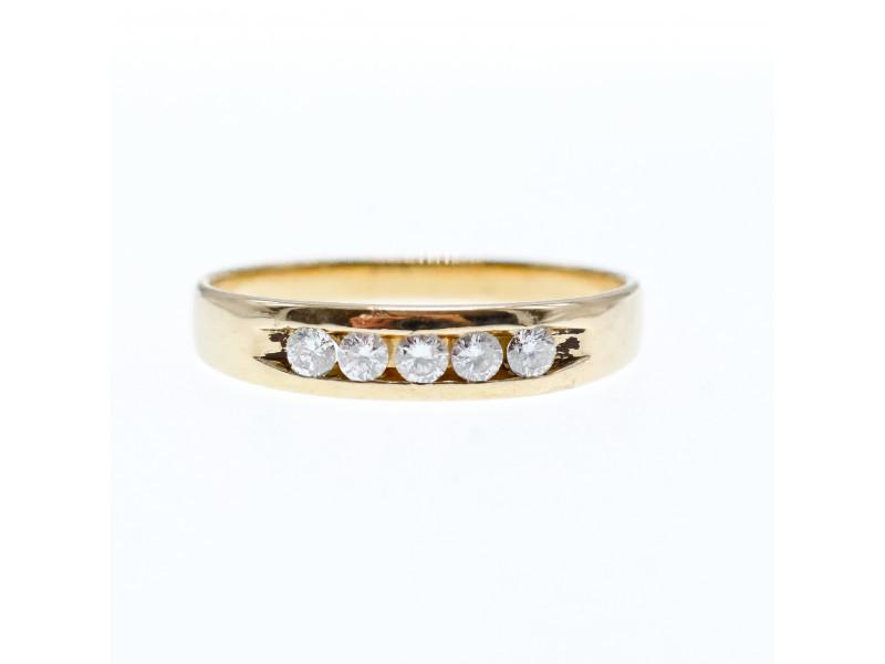 Золотое кольцо 14К (585 проба) с бриллиантами