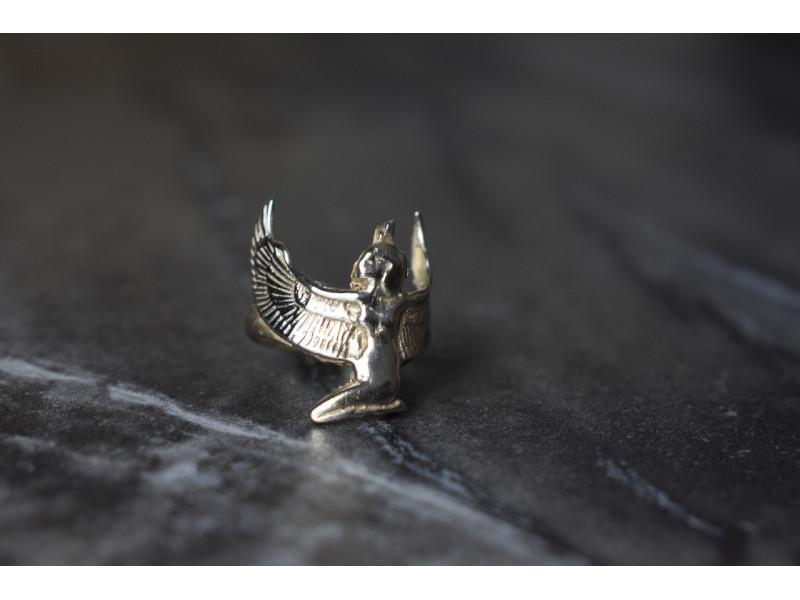 Серебряное кольцо *Девушка-Ангел*