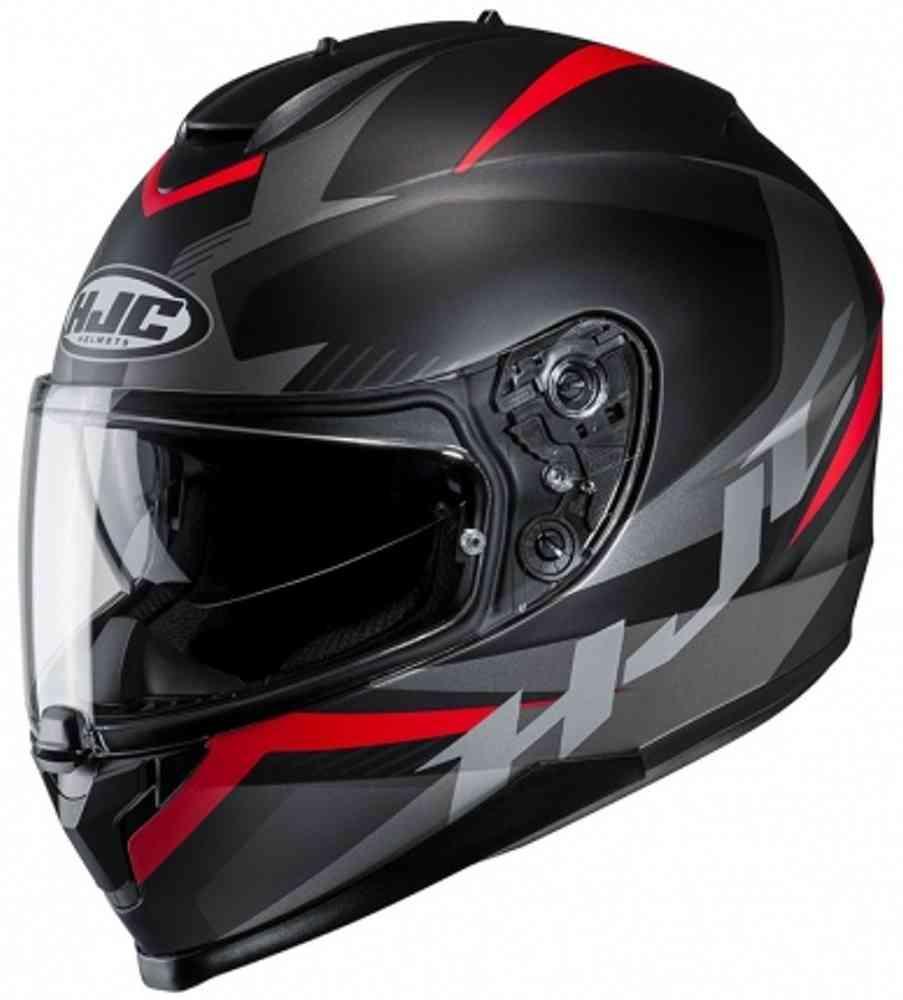 Шлем HJC Semi-Flat Black / Grey / Red C70