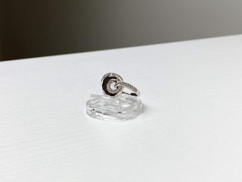 Стильное Серебряное  Кольцо с Фианитами 925 проба