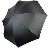 Зонт обратного сложения рисунок внутри женский Feeling Rain Антизонт трость полуавтомат Черный двойной купол, фото 5