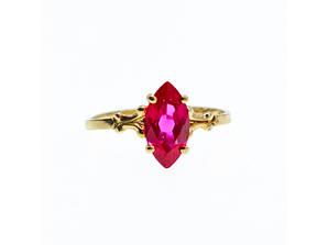 Золотое кольцо с рубином  Рубиновая Сказка