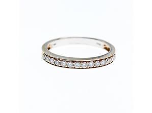Золотое кольцо 10К (417 проба) с белыми сапфирами