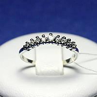 Серебряное кольцо с цирконием кубическим и чернением 1040в