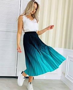 Ультрамодная женская плиссированная юбка 42-46 р