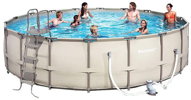 Каркасный круглый бассейн BestWay 56427/56232 (549x132 см) с картриджным фильтром