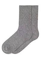 Носки шерстяные, цвет серый, размер 36-38