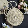 Круглая плетеная сумка «Seashells bright»