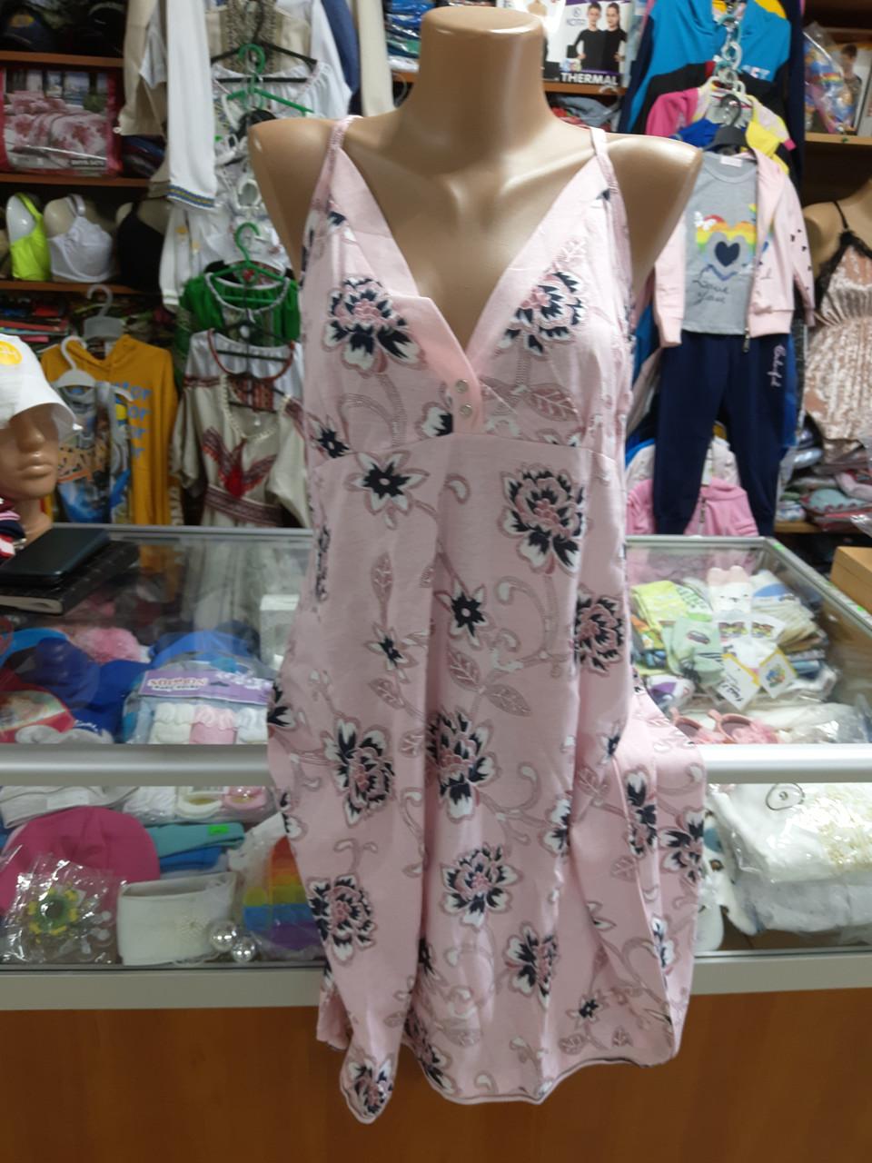 Женская ночная рубашка размер 54 56 58