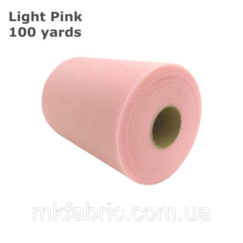 Ніжно-рожевий, фатин м'який однотонний