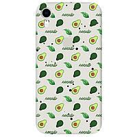Чохол для Apple iPhone XR напівпрозорий матовий soft touch Avocado