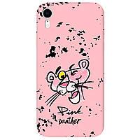 Чохол для Apple iPhone XR ніжно-рожевий матовий soft touch Pink Panther