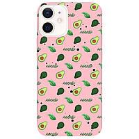 Чохол для Apple iPhone 12 ніжно-рожевий матовий soft touch Avocado