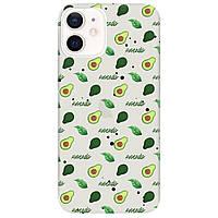 Чохол для Apple iPhone 12 напівпрозорий матовий soft touch Avocado